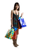 Shopping asian woman Stock Images