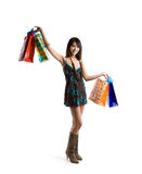 Shopping asian woman Stock Photography