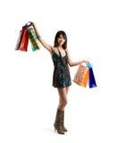 Shopping asian woman Stock Photography