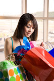 Shopping asian woman Royalty Free Stock Photos