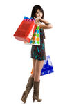 Shopping asian woman Royalty Free Stock Images
