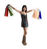 Shopping asian woman Stock Image