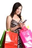 Shopping asian woman Stock Photos