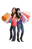 Shopping asian women Stock Images
