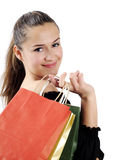 Shopping attractive young woman Stock Photo