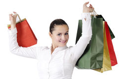 Shopping attractive young woman Royalty Free Stock Photography