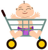 Shopping baby Royalty Free Stock Photo