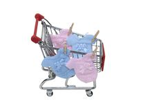 Shopping for baby clothes Royalty Free Stock Image