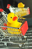 Shopping for baby products Stock Photography