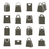 Shopping back icons isolated on white background vector set, sho Royalty Free Stock Image