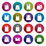 Shopping back icons vector set, shopping theme Royalty Free Stock Photography
