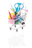 Shopping for back to school Royalty Free Stock Image