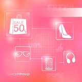 Shopping Background Stock Images