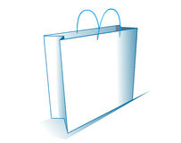 Shopping bag. A white shopping bag Stock Photos