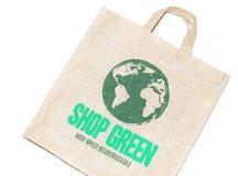 Shopping bag. Ecologic shopping bag isolated on white background Royalty Free Stock Photography