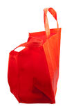 Shopping Bag. The red shopping bag isolated on a white background Stock Photography