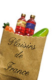 Shopping Bag. With groceries, isolated stock photo
