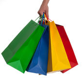 Shopping Bag. A collecetion of shopping bags on a white Background Stock Image