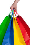 Shopping Bag. A collecetion of shopping bags on a white Background Stock Images
