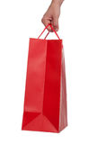 Shopping Bag. Red Shopping Bag on a white background Stock Photo