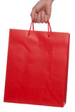 Shopping Bag. Red Shopping Bag on a white background Royalty Free Stock Photography