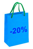 Shopping bag 20 percent Royalty Free Stock Photos