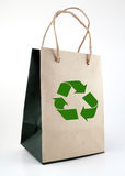 Shopping bag. Made from brown recycled paper Stock Photos
