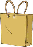 Shopping bag. On white background, vector Stock Image