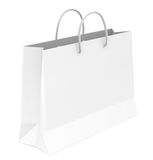 Shopping Bag. White shopping bag. Copy Space Stock Photo