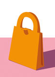 Shopping bag. A small  shopping paper bag for gifts Stock Photography