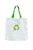 Shopping bag. With recycle symbol on white Stock Photos