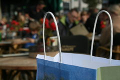 Shopping Bag. Close-up shot of a paper shopping bag Stock Photos