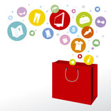 Shopping bag. Design on white background Stock Photo