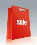 Shopping Bag 5. Drawing a black shopping bag Royalty Free Stock Photos