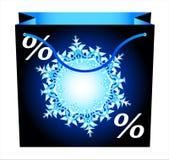 Shopping bag-5. Shopping bag with snowflake. Vector Stock Photo