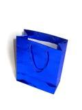 Shopping bag. Blue shopping bag stock photos