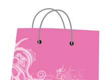 Shopping bag. A pink SHopping bag design Royalty Free Stock Image