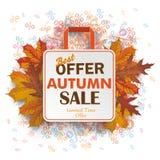 Shopping Bag Autumn Sale Percents Stock Photos