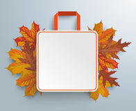 Shopping Bag Autumn Sale Royalty Free Stock Photography