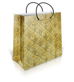 Shopping bag with beautiful seamless patern Royalty Free Stock Photo