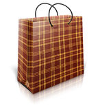 Shopping bag with beautiful seamless patern Royalty Free Stock Photos