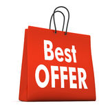 Shopping Bag Best Offer Stock Photo