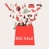Shopping bag big sale Royalty Free Stock Images