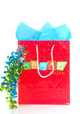 Shopping bag for a birthday event Stock Images