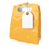 Shopping bag with blank label Royalty Free Stock Photography