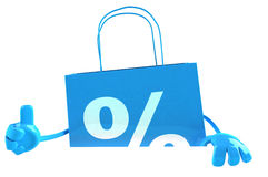 Shopping bag with a blank sign Stock Image