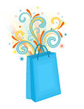Shopping bag blue Stock Photos