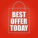 Shopping bag on a bright background Royalty Free Stock Photography