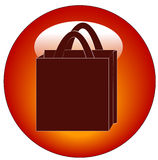 Shopping bag button Royalty Free Stock Images