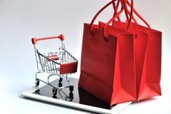 Shopping bag and Cart With Pad Stock Photos